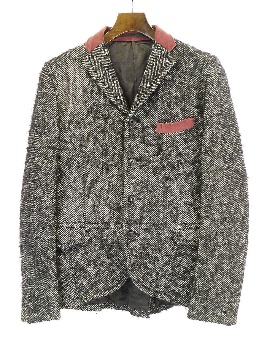 最適な材料 【】kolor カラー 09AW ベロアカラーミックスツイードジャケット グレー 2 メンズ, ハッピークラブ 7816b7d7