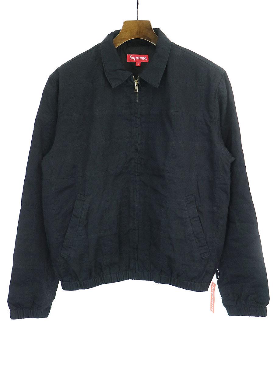 中古 Supreme シュプリーム 19SS Patchwork Harrington ジャケット Jacket コットン中綿ブルゾン メンズ ブラック 情熱セール 情熱セール S