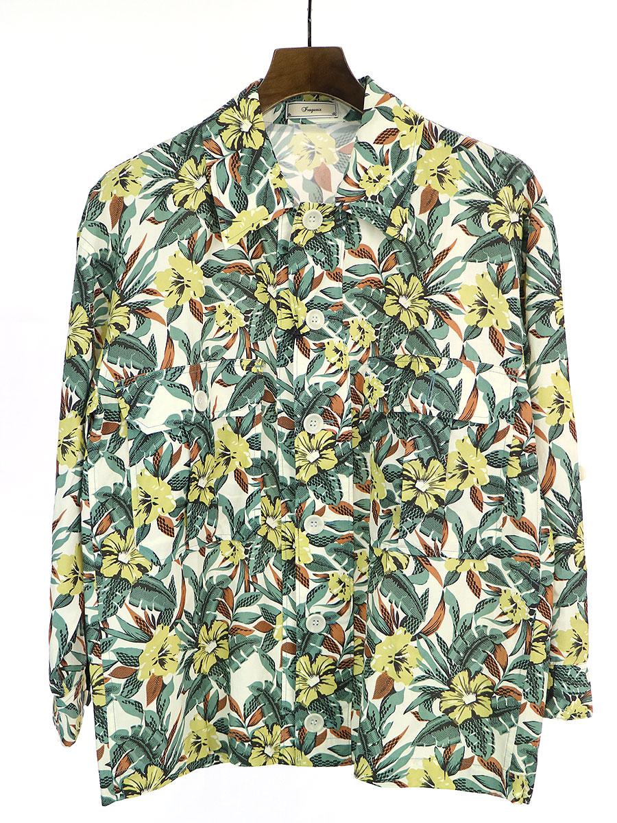 中古 iroquois イロコイ 15SS アフガンアロハシャツ メンズ グリーン 販売実績No.1 2 年末年始大決算