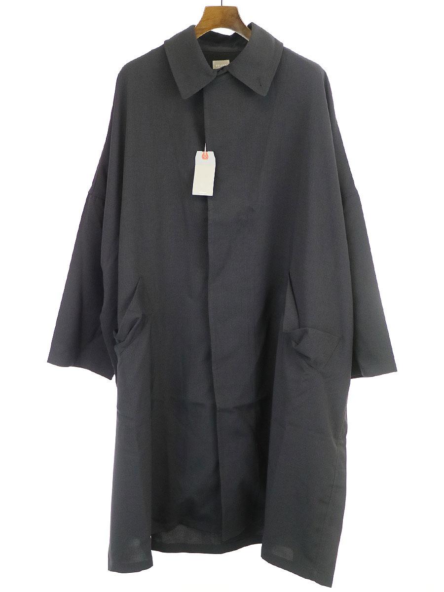 国産品 【】DELUXE デラックス 20SS INKFISH コットンナイロンステンカラーコート ブラック M メンズ, タカノスマチ 745f7525
