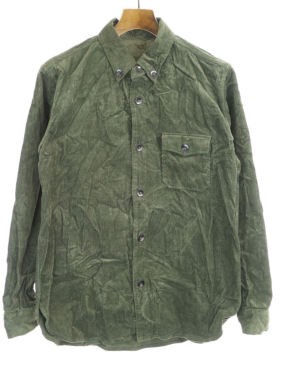 商舗 中古 UN UNBIENT 定番キャンバス アン グリーン オーバーサイズコーデュロイシャツ メンズ 3