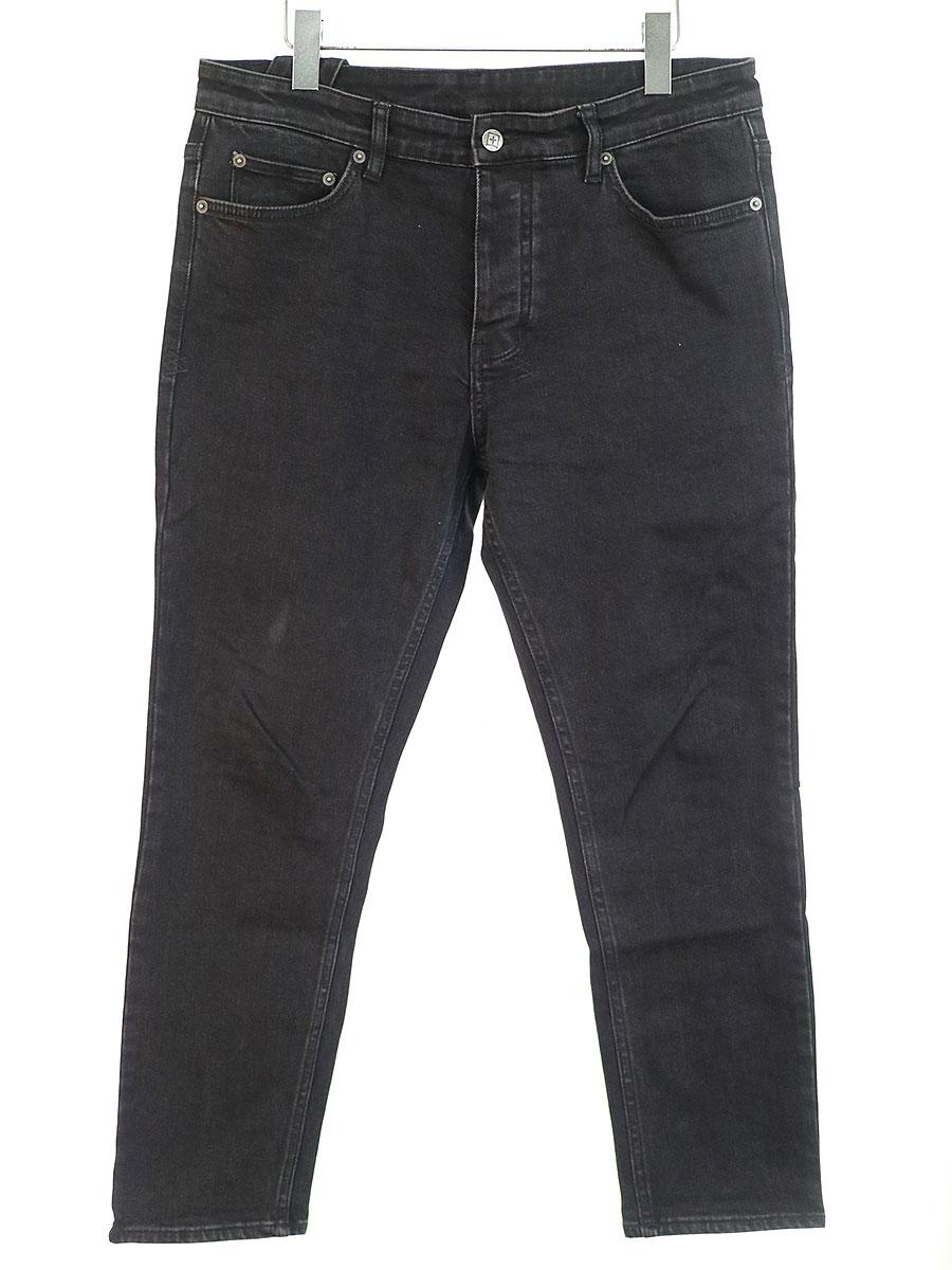 中古 Ksubi スビ ステッチデザインストレッチデニムパンツ 33 ブラック 付与 メンズ 期間限定特別価格