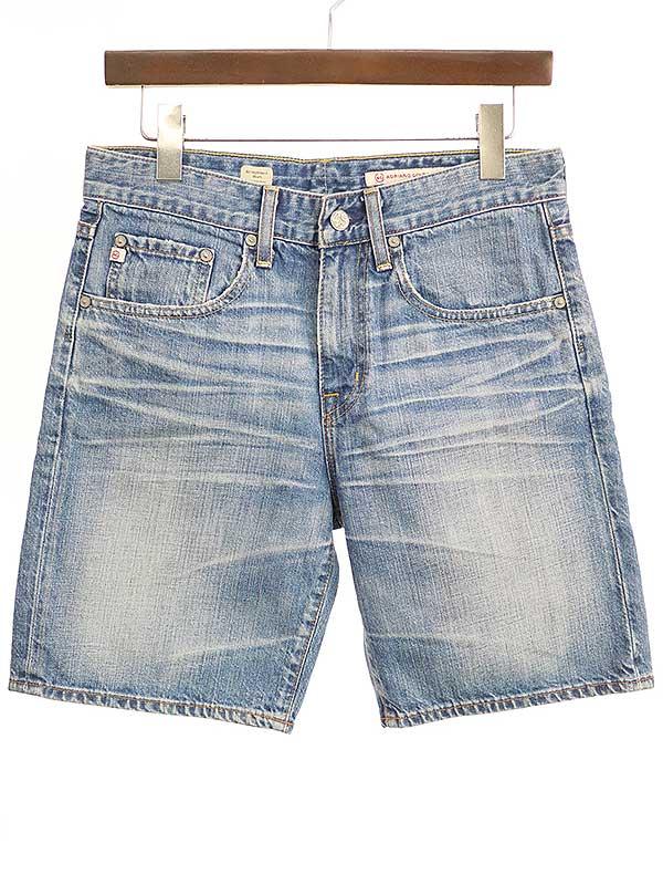 お値段見直しました 2021年5月3日値下げ品 中古 AG 超人気 Jeans 激安セール エージー インディゴ バックステッチショートデニムパンツ メンズ 26 ジーンズ