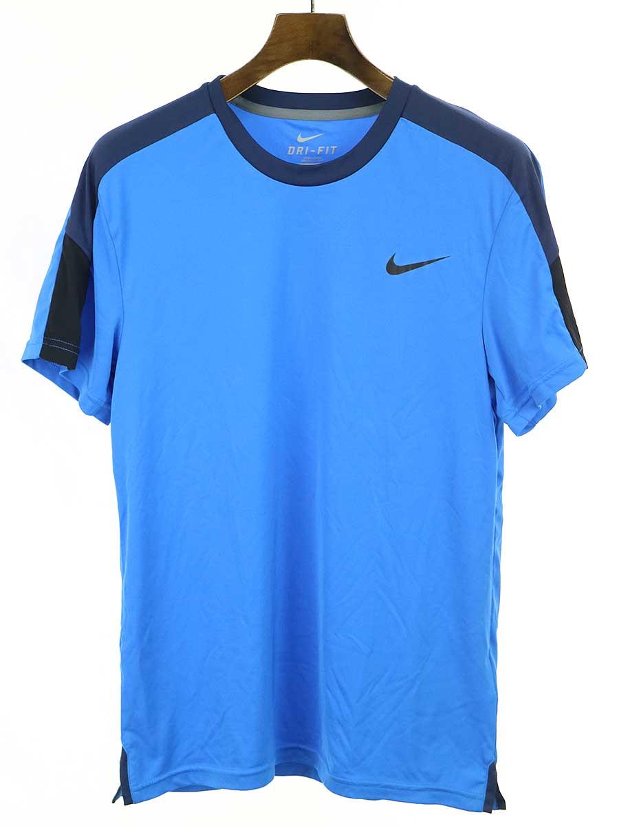 日本産 お値段見直しました 2021年5月14日値下げ品 チープ 中古 NIKE ナイキ トレーニングTシャツ ブルー DRI-FIT M メンズ