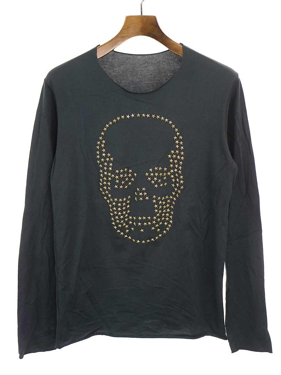 ラッピング無料 中古 ブランド買うならブランドオフ lucien pellat-finet ルシアンペラフィネ XS スタースタッズスカルカットソー メンズ ブラック