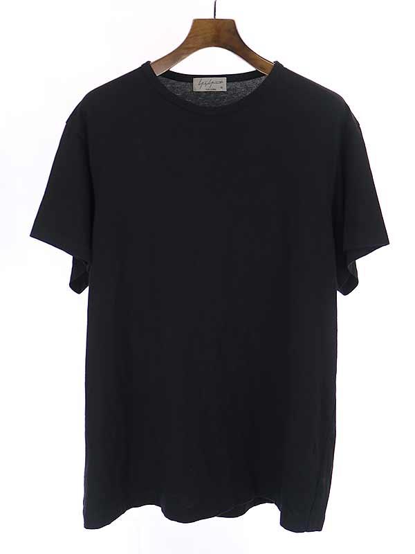 お値段見直しました 2021年8月14日値下げ品 中古 Yohji Yamamoto POUR HOMME ブラック 新作通販 人気ブレゼント ヨウジヤマモトプールオム 3 18SS クルーネックTシャツ メンズ