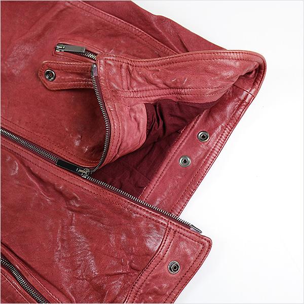 EMPORIO ARMANI Emporio Armani 13SS lamb leatherette jacket red 46