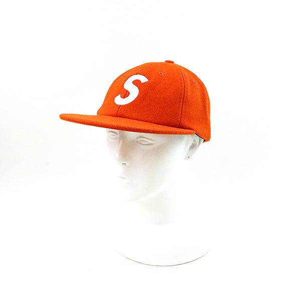 【中古】Supreme シュプリーム 17AW Wool S Logo 6-Panel オレンジ