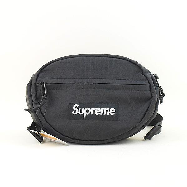 【中古】Supreme シュプリーム 18aw Waist Bag ウエストバッグ ブラック