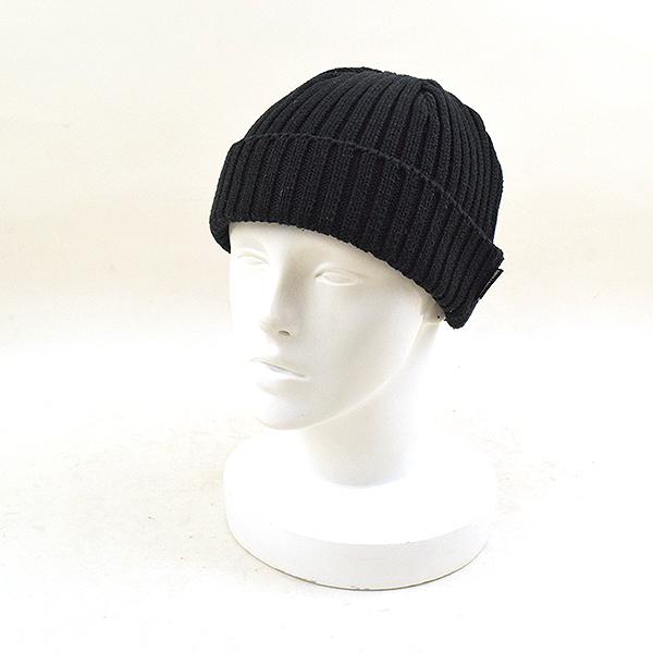 2f49e41b7 WACKO MARIA Wako Maria COTTON KNIT WATCH CAP cotton knit cap beanie black