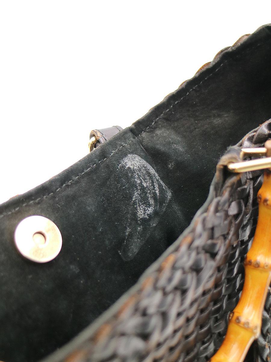 GUCCI グッチ OLD バンブーハンドル2WAYメッシュバッグ ブラックその他服飾k8wXn0ONP