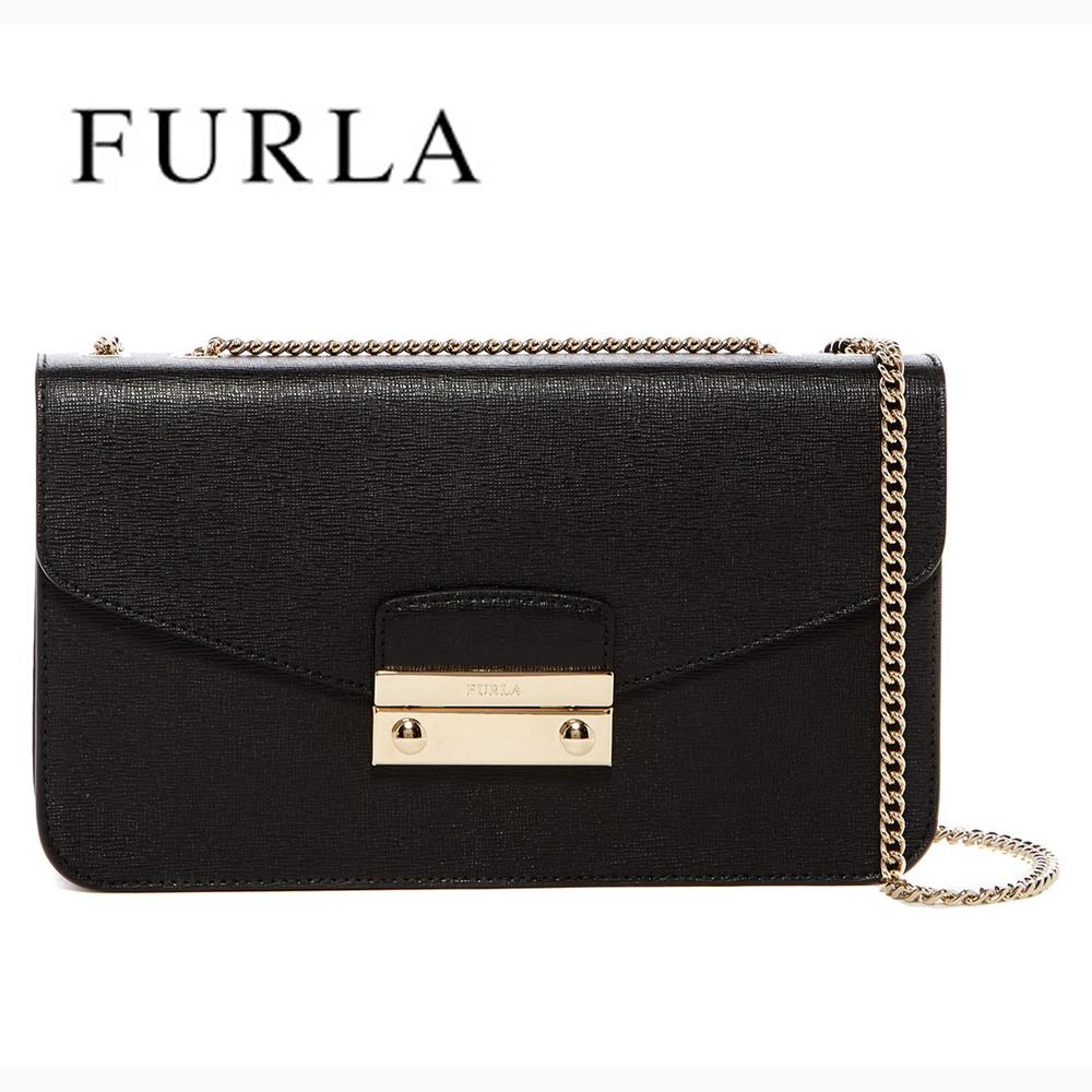 フルラ バッグ チェーン2wayポシェット ショルダーバッグ FURLA Julia Small Pochette Leather Shoulder Bag
