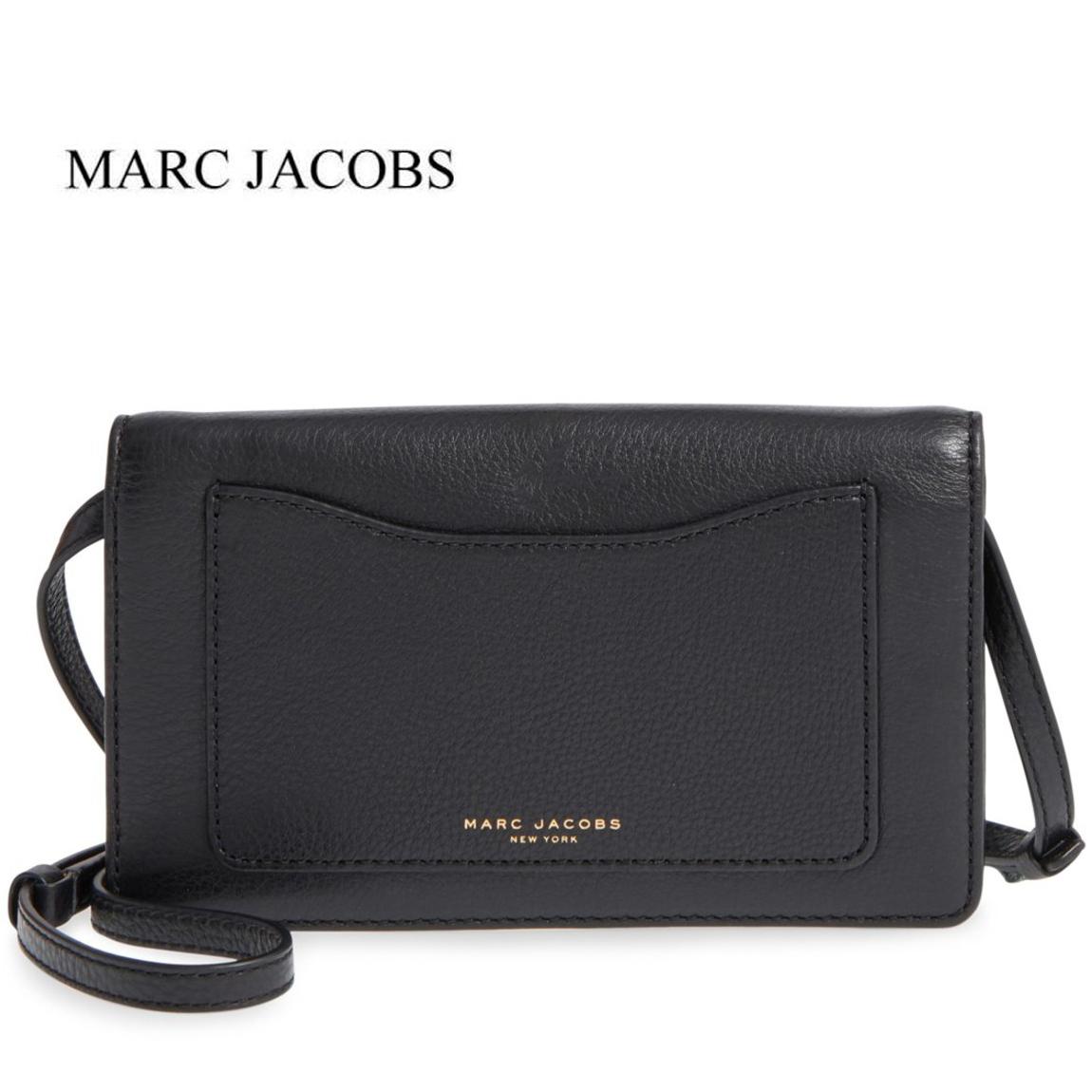 マークジェイコブス Crossbody バッグ ウォレット ショルダーバッグ Marc クロスボディバッグ ブラック ブラック Marc Jacobs Recruit Pebbled Leather Crossbody, 最新のデザイン:6c9cb351 --- cadf.djomani.fr