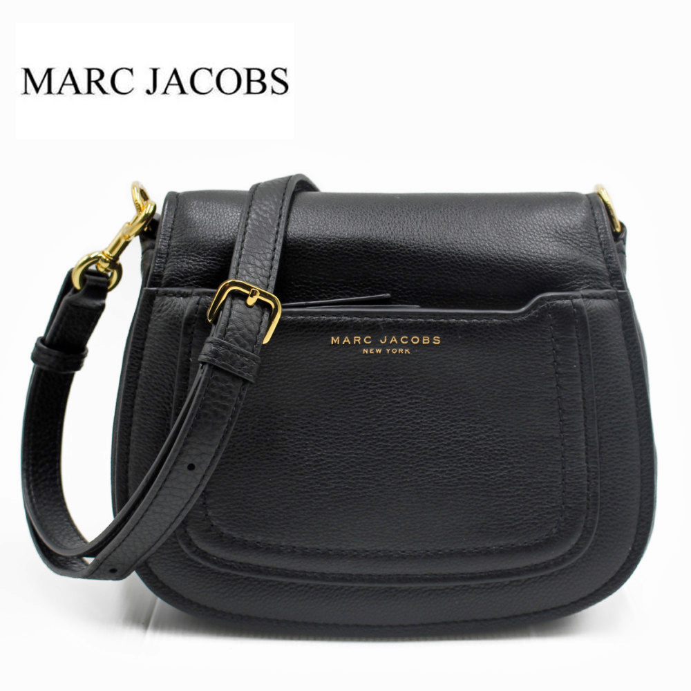 マークジェイコブス バッグ レザーショルダーバッグ クロスボディバッグ ブラック Marc Jacobs Empire City Mini Messenger Leather Crossbody Bag