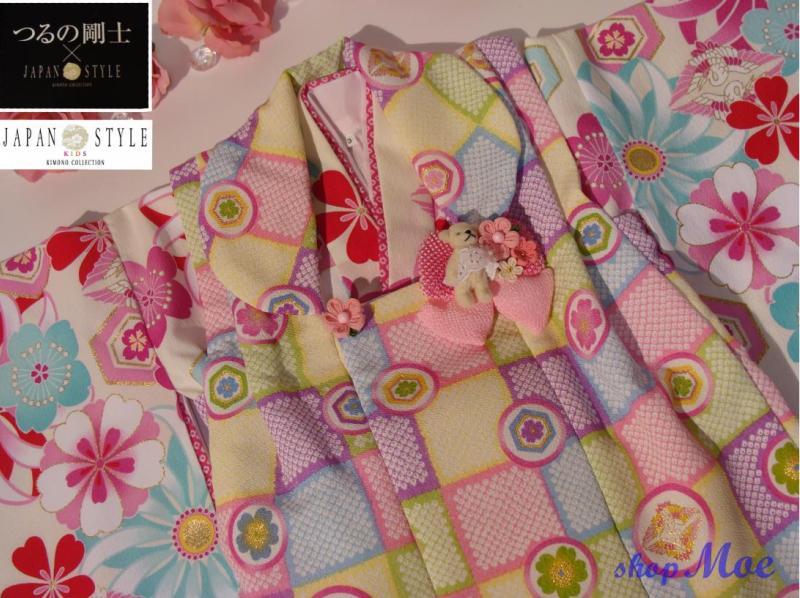 七五三着物三歳2010新作 JAPAN STYLE 3歳女児女の子ブランド着物被布セット(2)