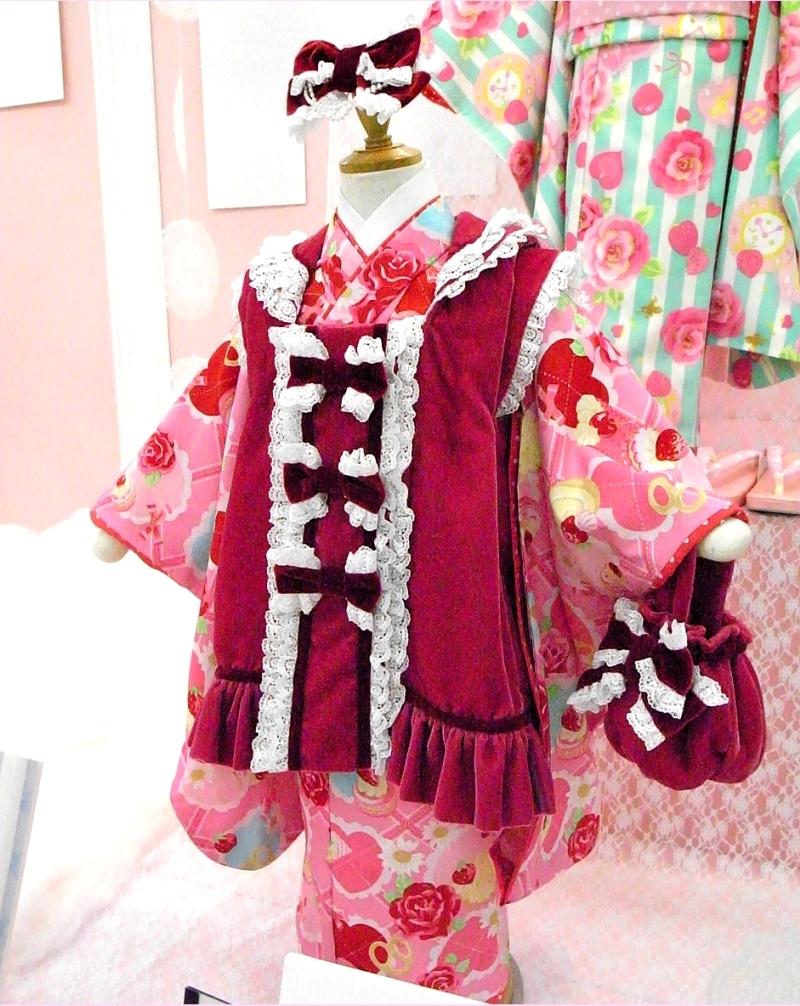 期間限定特別ファイナルバーゲン!ブランドで差がつく七五三!七五三着物三歳新作セイコマツダ着物SEIKO MATSUDA 3歳女児ブランド着物被布セット(SF-1)