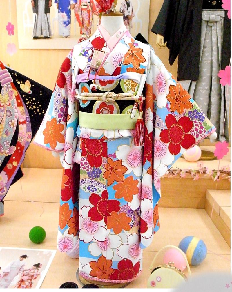 七五三着物七歳2010新作 OTOHA 乙葉 /7歳四つ身女の子・女児ブランド着物 安心フルセット!(3)
