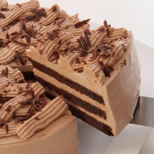 【アレルギー対応・冷凍便】卵・小麦粉・乳製品不使用のチョコ三昧15cm 米粉ケーキ