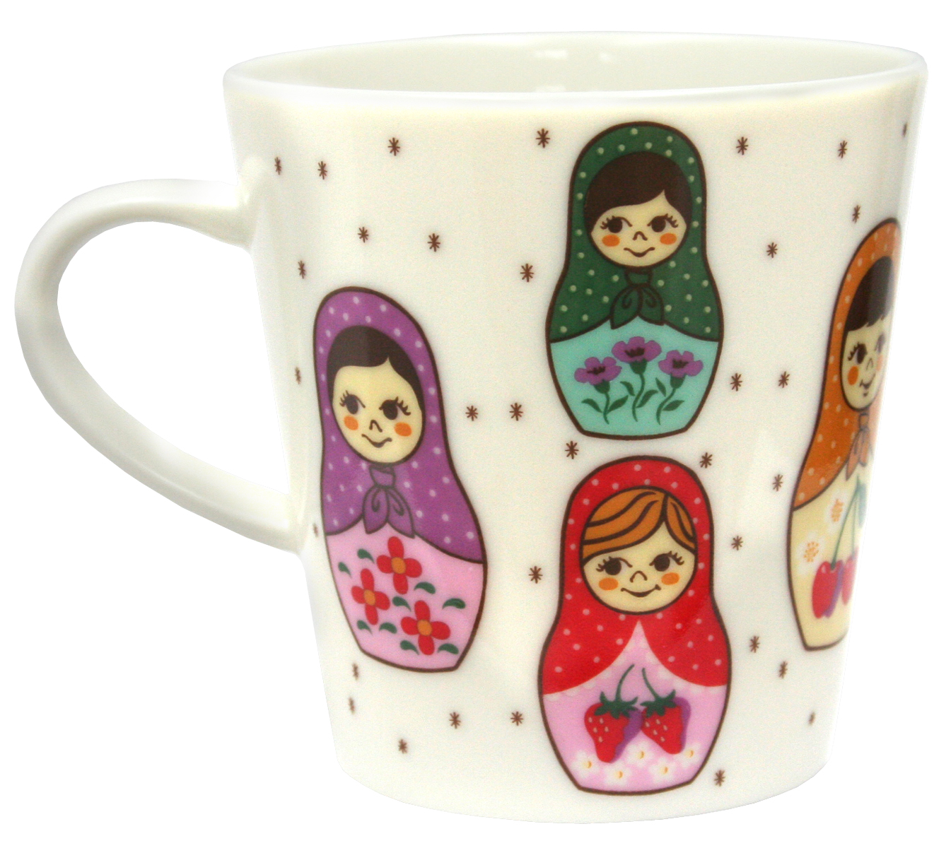 moewe-aip: Brownmatriyoshica mug (Brown Matryoshka Mug Cup) and ...