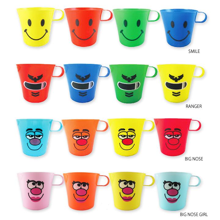 プラマグ・かわいいスマイルプラカップ(プラコップ)お弁当や歯磨きに使えるプラスチックコップ(プラスチックカップ)幼稚園や保育園キッズの子供用コップに!コップ,カップセット プラスチックコップ 4個セット・子供に人気のプラカップ、プラコップ♪食器 コップ カップ 歯みがきコップ プラスチック レンジOK スタッキング 保育園 幼稚園 歯磨き 歯ブラシ 歯みがき プチギフト ランチ 子供用 かわいい 可愛い