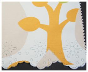 《即納可》遮光カーテン生地の北欧カフェカーテン /●ツリー/【AB520CW】 幅140cm×50cm丈/75cm丈から選べます[北欧風 防炎 遮光 小窓用カーテン キッチン ランドリールーム/トイレ 間仕切り][ネコポス便対応/1個まで]