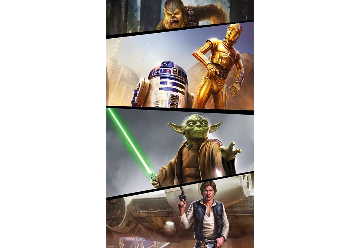 セール ドイツ製インポート壁紙 Vd 026 Star Wars Moments Rebels