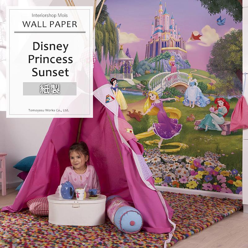 《即日出荷》 ドイツ製インポート壁紙 【4-4026】 Disney Princess Sunset[輸入壁紙 デザイン おしゃれ 輸入 海外 外国 紙 壁紙 クロス DIY リフォーム ディズニー プリンセス 子供部屋 友安製作所]