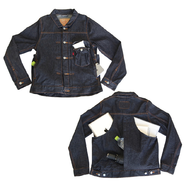 デニムジャケット ジージャン メンズ レディース 兼用 多ポケット『ハコベストデニムジャケット』