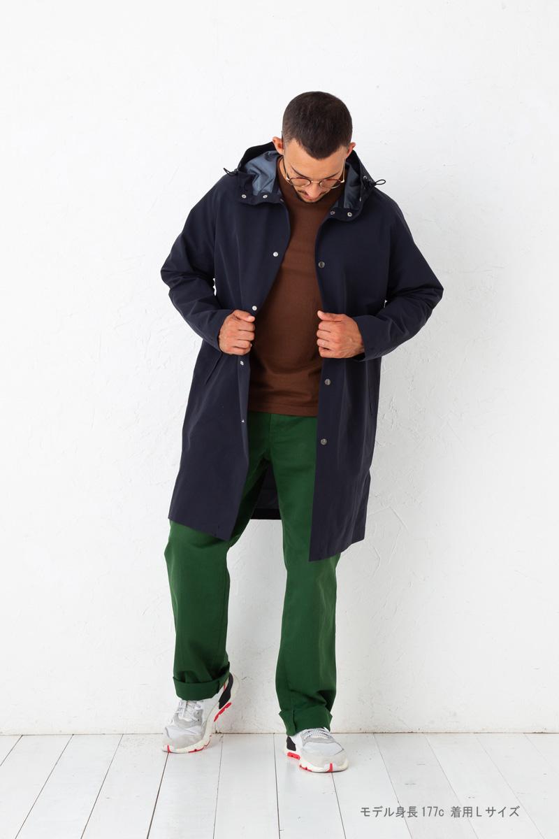 フーデットコート 【MASHUR】 シームレス メンズ スプリングコート レインコート フーデットパーカ フード付きコート 快適コート