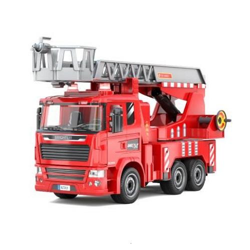 1:24 クイックプラモ レビューを書けば送料当店負担 童友社 日本正規代理店品 はしご消防車