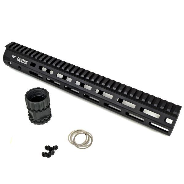OCTAARMS 13.5インチ M-Lokシステム ハンドガードセット ブラック