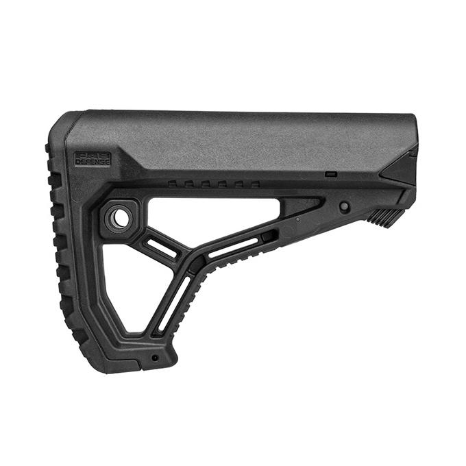 FAB DEFENSE 実物 伸縮ストック GL-Core AR15/M4対応 交換チューブアダプター付 BKカラー