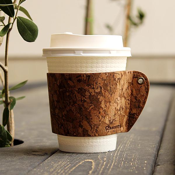 ネット限定 日々のコーヒータイムを少し贅沢な時間に ちょっとしたプレゼントにも最適 テレビで話題 特売 ■ コルクレザーのカップスリーブ CONNIE Cup Sleeve Coffee