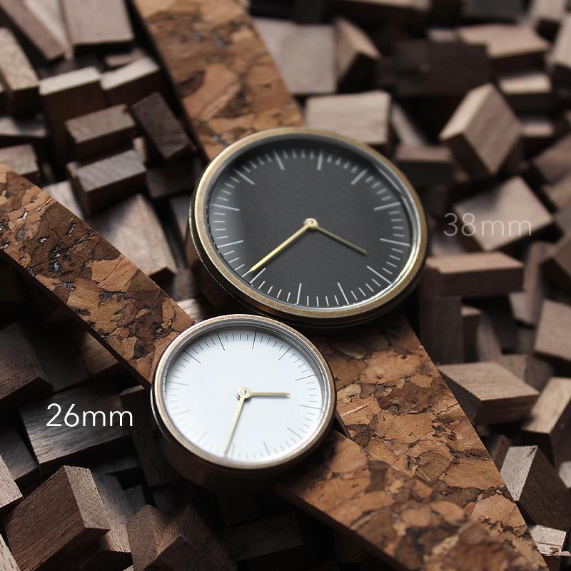 ■シンプルでおしゃれなコルク腕時計「CONNIE SimpleWatch 26mm」レディース
