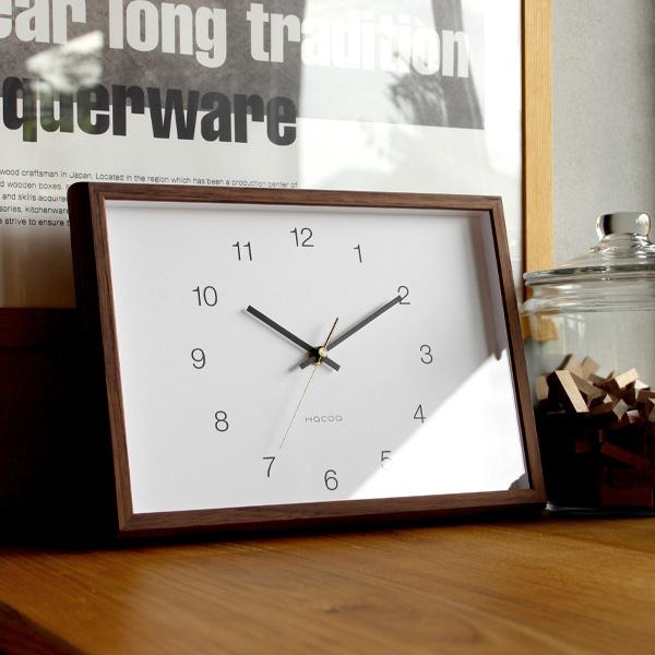 ■「Hacoa Frame Clock」時計 壁掛け時計 置き時計 とけい クロック かわいい おしゃれ シンプル ナチュラル 北欧 木製 ギフト プレゼント 日本製 インテリア