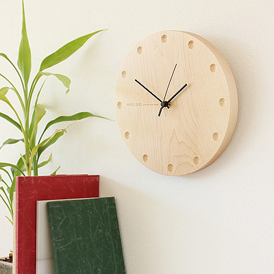 ■「Hacoa WallClock Round」時計 壁掛け時計 置き時計 とけい クロック かわいい おしゃれ シンプル ナチュラル 北欧 木製 ギフト プレゼント 手作り 名入れ可 日本製 インテリア 丸