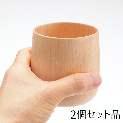 ■木製コップ「YUKI(国産水目桜)ナチュラル+ブラウンセット」, 本別町:c13a750c --- sunward.msk.ru