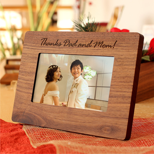 ♦ solid sheets of wood Hacoa digital photo frame (small) put the original gift! And Scandinavian design
