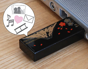 ■ ideal for gifts! Urushi lacquer Fuji coated with Urushi lacquer with real wood USB flash drive 8 GB