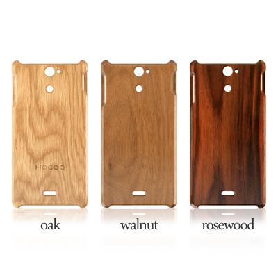 """♦ Scandinavian design and popular natural beech wooden Smartphone case """"Wooden case for Xperia AX SO-01E."""