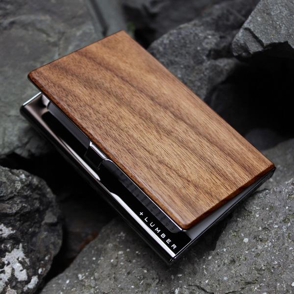 ■「+LUMBER CARD CASE」名入れ可 名刺入れ 名刺ケース カードケース カード入れ メンズ レディース 男性用 女性用 木製 ギフト プレゼント おしゃれ 入社祝い 就職祝い Hacoa ハコア