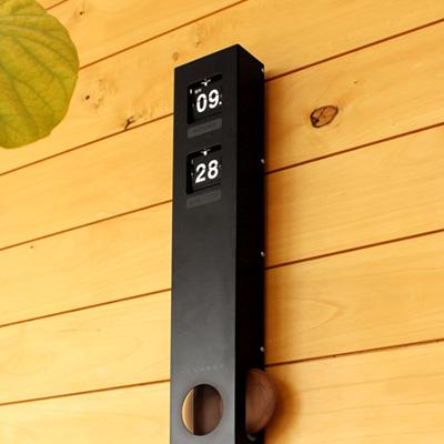 木製振り子とパタパタめくれるフリップがレトロでおしゃれな時計 ■ +L 壁掛けフリップ時計 WALL メーカー再生品 アウトレットセール 特集 CLOCK TYPE FLIP