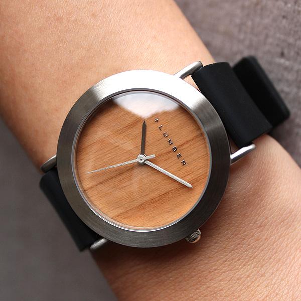 ■3300「+LUMBER WATCH 3300(シリコンベルト)」腕時計 ウォッチ 木製 ウッド メンズ レディース ユニセックス 日本製ムーブメント 生活防水 プレゼント ギフト おしゃれ シンプル ペアウォッチ 軽い Hacoa 送料無料