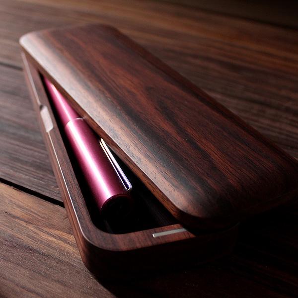 ■【プレミアム】「Pen Case Gentle(ローズウッド)」木製 筆箱 ペンケース 筆入れ おしゃれ かわいい シンプル フデバコ