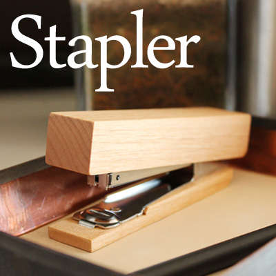 ■ can put your name!, wood shavings and stapler and stapler / Scandinavian design