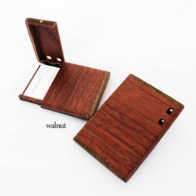 Mokko Ya Wooden Vertical Business Card Holder Business Card