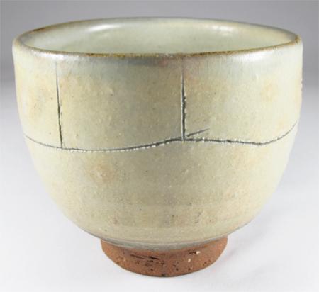 Tea bowl (white tanba)-Tanba Tachikui Pottery-