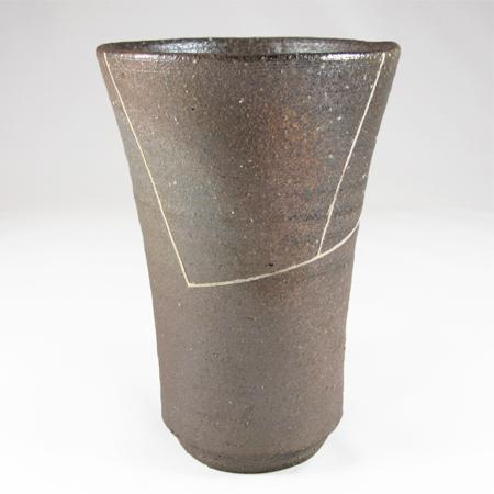 Beer mug (Pattern of line)-Tanba Tachikui Pottery-