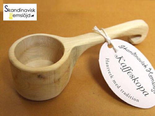 価格 職人手作り スカンジナビスク ヘムスロイド 北欧 木製コーヒーメジャースプーン セール特価 エストニア製 木製 カフェ用品 ひしゃく型 北欧デザイン
