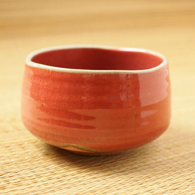 抹茶碗 赤楽 ショップ 美濃焼 日本製 稽古 抹茶茶碗 練習 茶道 公式通販